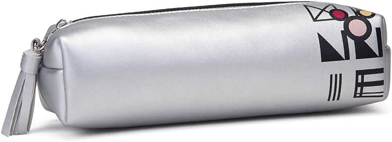 Disney Minnie Metallic - Estuche Escolar Liso, Color Plateado, Cremallera. Dim: 20 x 6 x 6.5 cm (Opi Brands 11575): Amazon.es: Equipaje