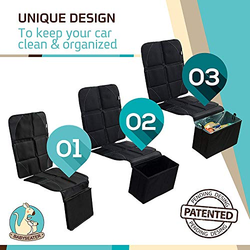 BABYSEATER Bag Liner Refills for Carseat Protector with Car Garbage can 30 Pack - 8 Gallon