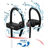 iYa Wireless Sports Bluetooth Noise-Cancelling IPX7 Waterproof Multipoint Function Long Battery Life HD Quality Headset Suitable for Workouts