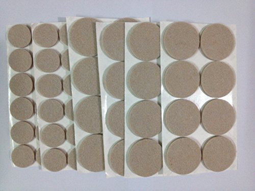 Lydealife Heavy Duty Felt Pads (Furniture & Floor Protector)- 48 Pcs of assorted sizes (24 of 1'' + 24 of 1-1/2