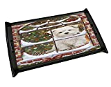 Please Come Home For Christmas Maltese Sitting In Window Black Wood Serving Tray
