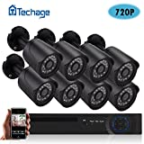 Wired System Techage 8CH 720P DVR CCTV System 8PCS 1200TVL 1.0MP Night Vision Weatherproof Outdoor Home Security Camera Video Surveillance Kits Without Hard Drive