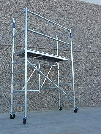 Andamio Plegable Aluminio altura 3,85 (Ampliable): Amazon.es: Bricolaje y herramientas