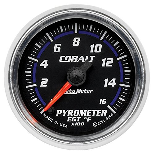 AUTO METER PRODUCTS 6144 Autometer Gauges 2-1/16 PYROMETER 0-1600`F 0 - 0 Cobalt Series Auto Meter gauges