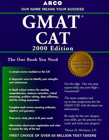 Arco Everything You Need to Score High on the Gmat Cat 2000