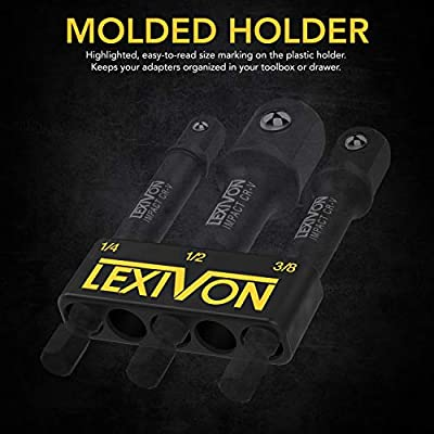 LEXIVON Impact Grade Socket Adapter Set, 3
