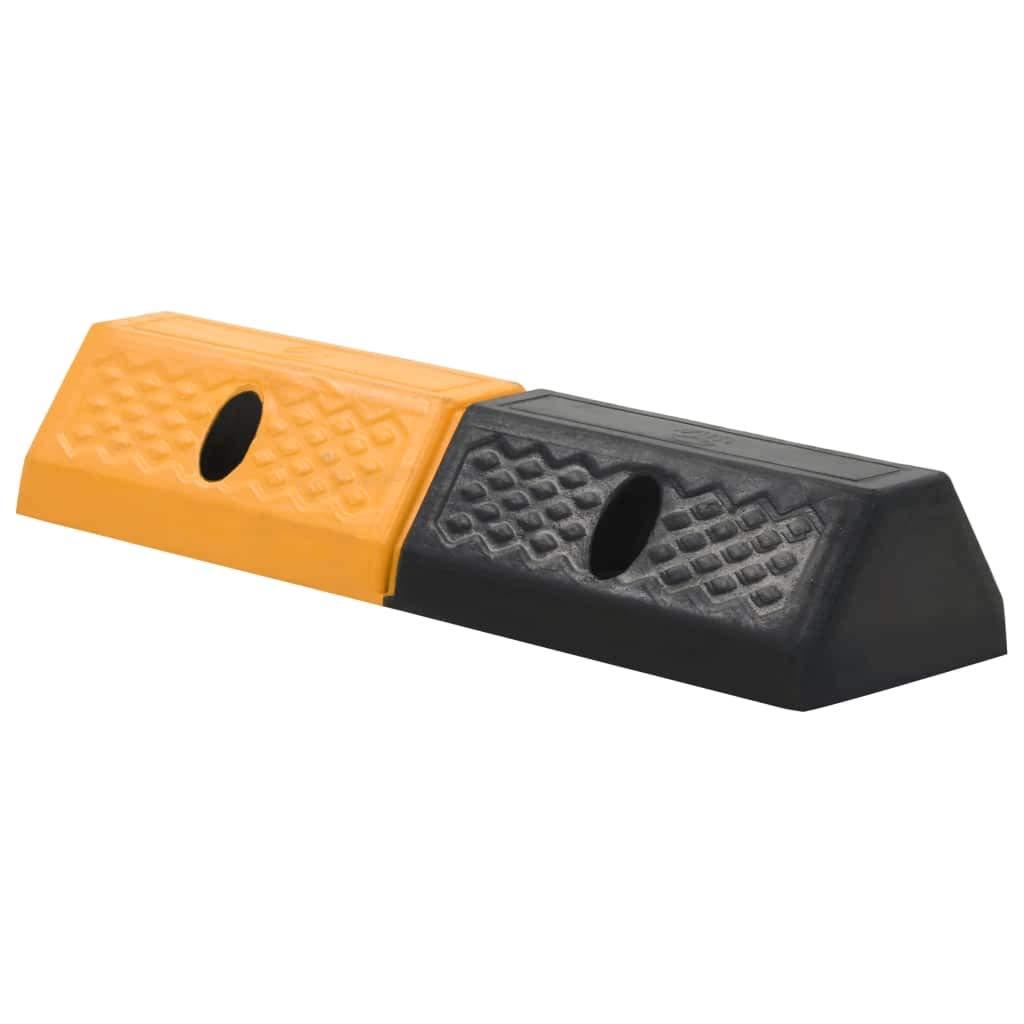 vidaXL 2X Delimitatori di Parcheggio Gomma 49x15x9 cm Accessori Garage Veicoli