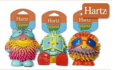 Hartz Frisky Frolic Latex Squeakable Dog Toy - Set of Three