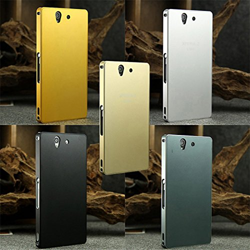 (Black)2014 New Cover Case for Sony Xperia Z LTE L36h Case Luxury Aluminum Metal Hard Back Cover Case