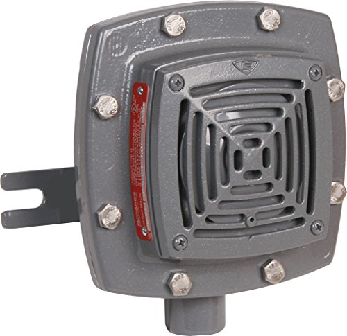Edwards Signaling 878EX-N5 Vibrating Horn, 110/100 db, Heavy Duty Explosion Proof, 120V AC, Gray ()