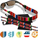Sunglass and Glasses Safety Strap - 2 Pack with Bonus Pouch and Cleaning Cloth (Down South)