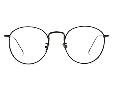 4c9236a325d7 Amazon.com  TIJN Women Metal Circle Eyeglasses Fashion Full Rim Round Thin  Artist Frame-Henk  Clothing