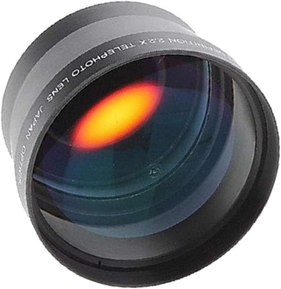 DORLIONA 67mm 2.2X High Definition Telephoto Lens for Canon Nikon Sony 18-135mm Cameras