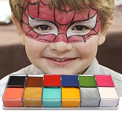 Molie Face Paint Washable Paints Super Concentrated 12-Color Oil Painting Body Painting Drama Special Effects Colorful Facial Mask Body Oil -