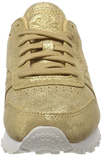 Women's Gold 000 Trainers Gold Grey Leather Shimmer 4 UK Chalk Xj Reebok Classic BwHdv7nqq