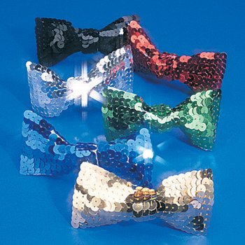 Costume Bow Ties - FE Dozen Assorted Sequin Bow