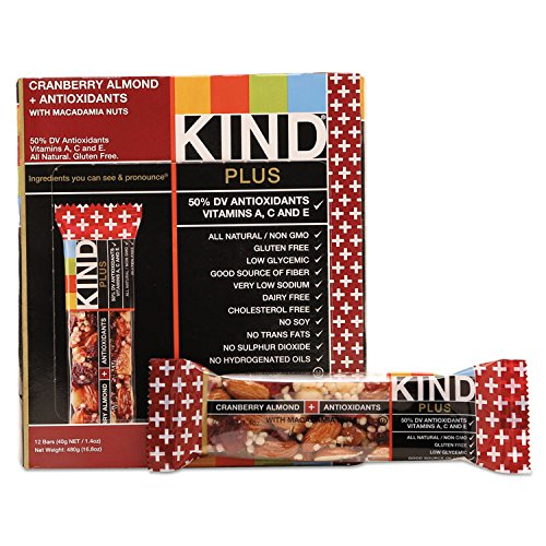 Plus Nutrition Boost Bar, Cranberry/almond, 1.4 Oz, 12/box By: KIND