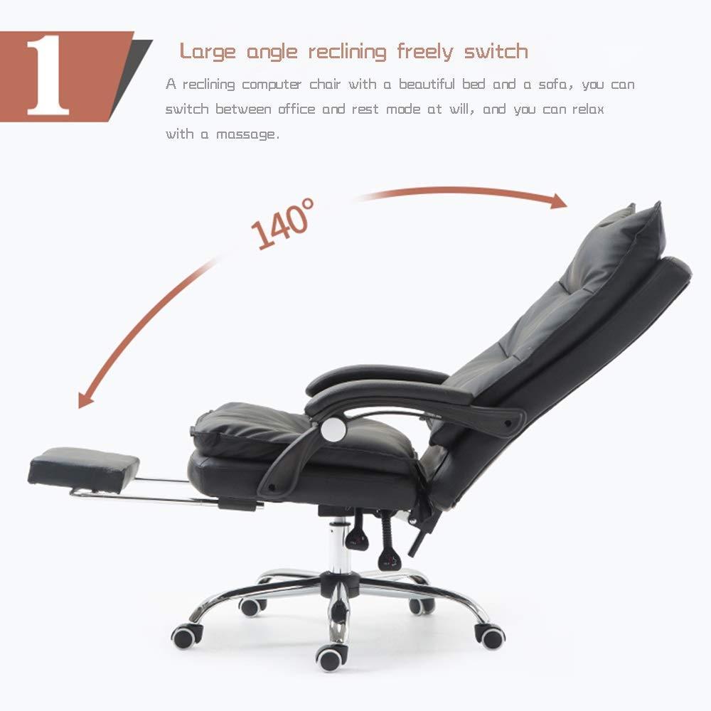 Dalovy bekväm chef stol, ergonomisk Pu läder verkställande kontorsstol skrivbord uppgift datorstol svängbar hög rygg stol Svart