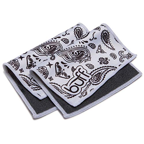 Camo Off Makeup Remover - Buff Quick Cloth - 2 Pack with Case | Double Sided Ultrafine Microfiber Cloth | Designed for Eyeglasses, Phones, Tablets, Lenses | Paisley Print ...