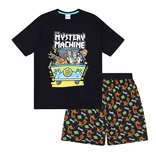 - Scooby Doo Mystery Machine Official Boys Kids Loungewear Short Pajamas 8-9 Years