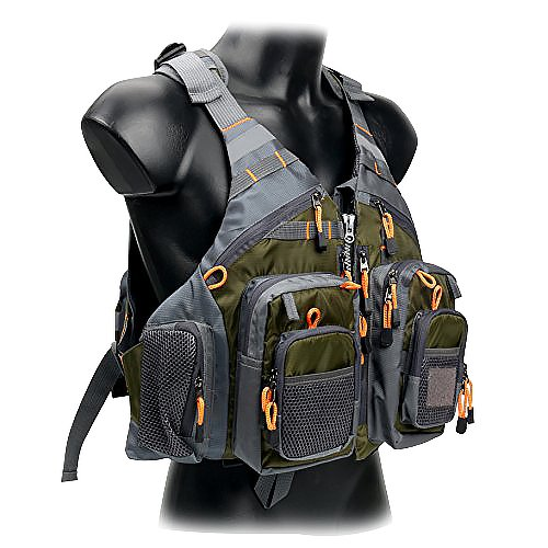 Fly Life Vest - Amarine-made Fly Fishing Vest Pack (Fishing Vest/Fishing Sling Pack/Fishing Backpack) (Green)