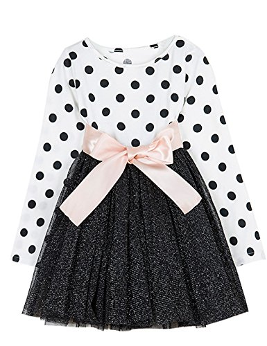 Image result for NNJXD Girl Polka Dotted Pleated Multilayer Ruffled Party Dress