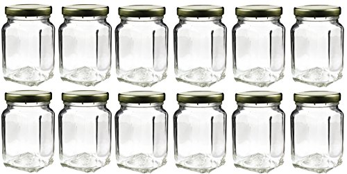 12 Pack of 6oz Square Victorian Jars, Bulk Value Pack of Square Glass Jars with Screw-On Lids, Ideal for Spice Storage, Wedding and Party Favors, DIY Projects & More! (Set of 12) (Small Glass Jars For Herbs compare prices)