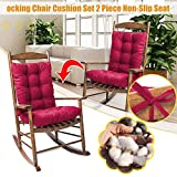 Rocking Chair Cushion Set with Ties,2 Piece