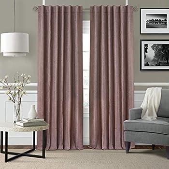 Elrene Home Fashions Leila Matelasse Single Blackout Window Curtain Panel, 52