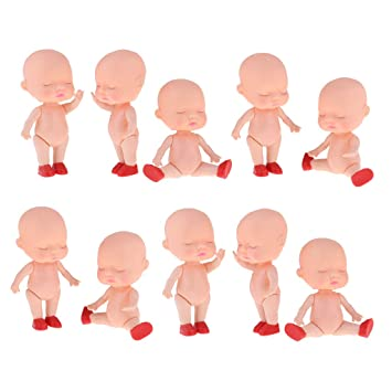 Amazon.es: KESOTO 10 Unids Realista Muñeca Recién Nacida Durmiendo Mini Bebé Muñeca Desnuda Cuerpo Molde Baño: Juguetes y juegos