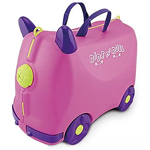 IQ Toys Ride N Roll Suitcase, Travel Luggage & Storage Bag - Suitcase Trunki
