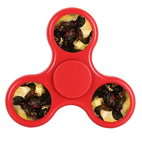 Price comparison product image New Style Cool Tri-Hands Fidget Spinner Toy, Stress Reducer Relieve Anxiety, Controlling Force, Fashion Design and Images(Dark Souls 3 - Red)