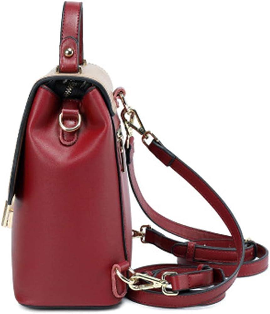 PUS Sac à dos féminin en cuir facile à transporter avec la cire à l'huile pour l'Europe et les Américains, pour les loisirs, les voyages Noir