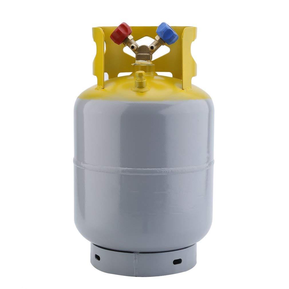 Homgrace Refrigerant Recovery Cylinder Tan, Reusable 30lb Steel 400 PSI Refrigerant Reclaim Tank