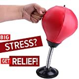 #5: REEHUT Stress Relief Desktop Punching Ball/Bag Stress Buster, Decompression for Adults&Kids With Strong Suction Cup - Pump Included - an Amazing Toy for the Office