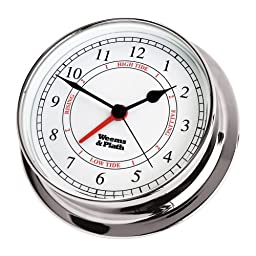 Weems & Plath Endurance Collection 125 Time and Tide Clock (Chrome)
