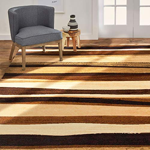 Home Dynamix Jayden Modern Area Rug, 5'2″x7'2″, Abstract Light Brown/Dark Brown/Tan