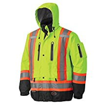 Pioneer V1130160-XL Premium High Visibility Safety Jacket-Waterproof, Green, X-Large