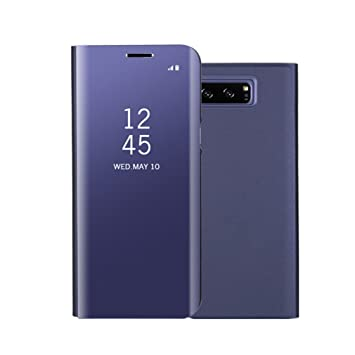 Funda Samsung Note 8 Espejo Clear View Standing Cover, Aursen Carcasa Case para Samsung Note 8, color azul oscuro