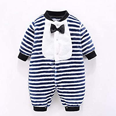 Newborn Baby Kids Cute Long Sleeve 3D Dinosaur Jumpsuit Striped Romper Bodysuit