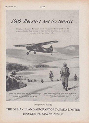 1000 Beavers are in service - De Havilland Aircraft of Canada ad 1957 ()