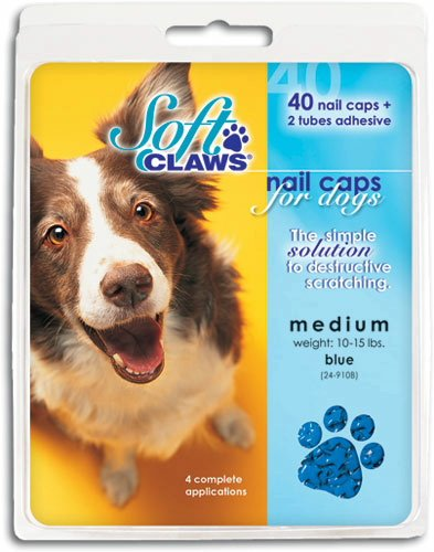 Soft Claws Nail Caps for Dogs Blue, XXX-Large 40ct