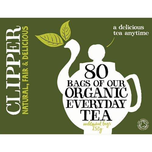 (6 PACK) - Clipper - Organic Everyday Tea | 80 Bag | 6 PACK BUNDLE