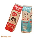 Funnylive Creative Milk Cartons Pencil Case Waterproof Pen Bag 2pc Deal (Small Image)