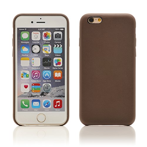 "iProtect Kunstleder Schutzhülle Apple iPhone 6, 6s (4,7"") flexibles Case in NeonBraun"