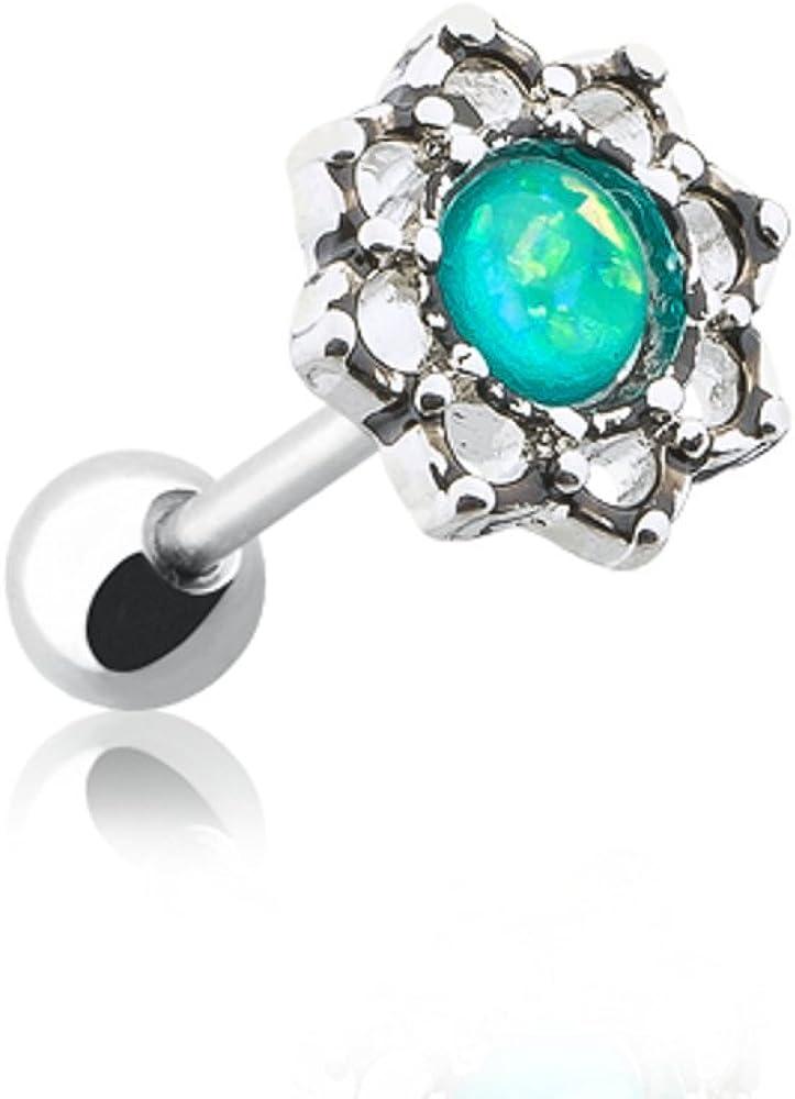 Lotus Opal Sparkle Filigree WildKlass Cartilage Tragus Earring