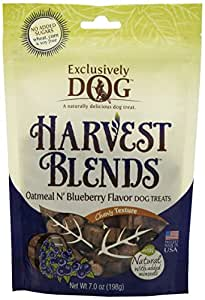 Exclusively Pet Harvest Blends Oatmeal N Blueberry Flavored Treats, 7-Ounce