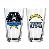 NFL Star Wars Pint Glass, 16-ounce, 2-Pack
