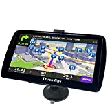 """TruckWay GPS - Pro Series Black Edition - Truck GPS 7"""" inch for Truck Navigation Lifetime North America Maps (USA + Canada) 3D & 2D Maps, Touch Screen, Turn by Turn"""