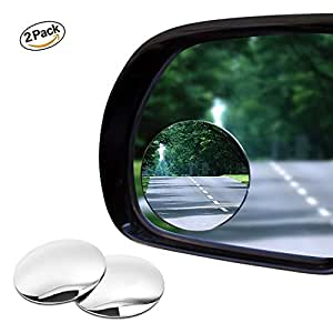 bestgle 2 pcs adjustable automotive blind spot mirror frameless round hd glass self adhesive. Black Bedroom Furniture Sets. Home Design Ideas